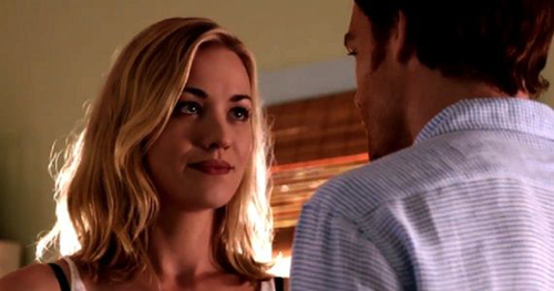 Hannah (Yvonne Strahovski) and Dexter (Michael C. Hall) are smitten.
