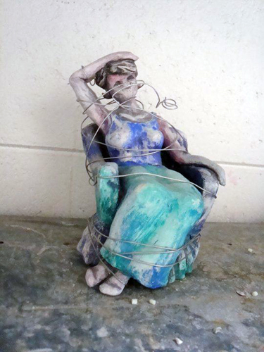 """Woman and Wire"" by Mary Wright."